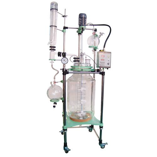 GR Double-layer Glass Reactor with Variable Frequency Speed Control