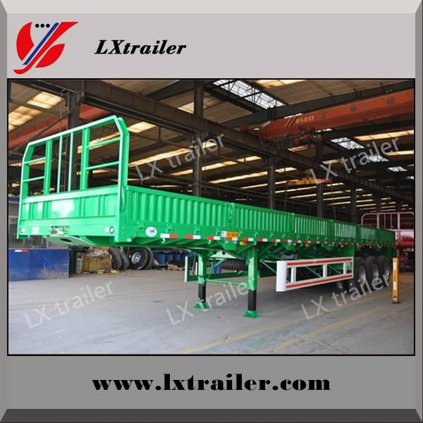 Cargo Transport 3 Axles High Platform Side Wall Semi Trailer