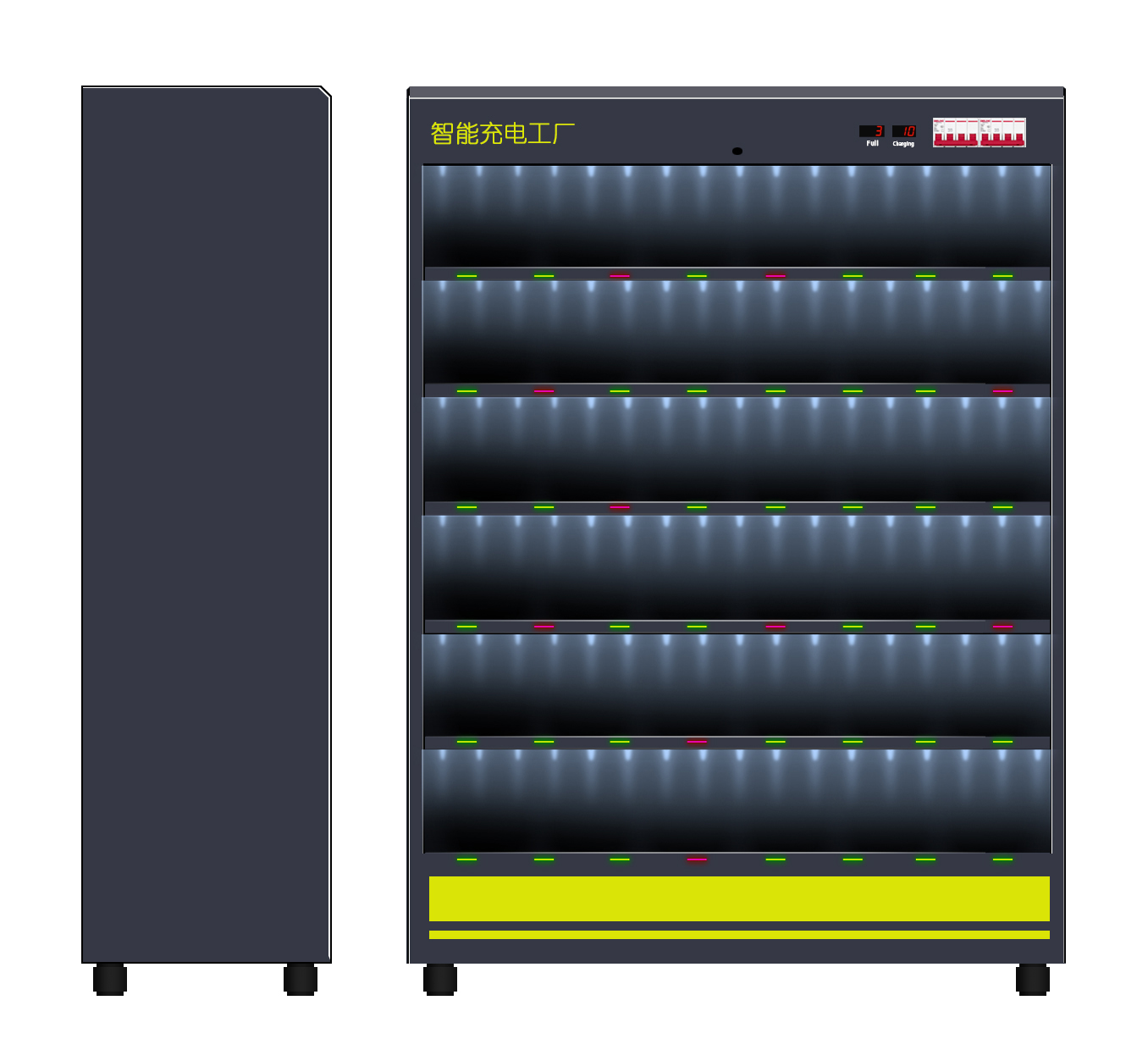 Light Electric Vehicle Lithium Battery Charging Cabinet With Intelligent Monitor Platform