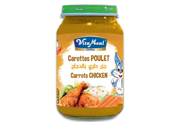 VITAMEAL BABY - Glass jars - Chicken & Carrots
