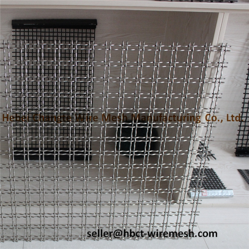 Low Carbon Steel Crimped Woven Wire Mesh Mining Screen Mesh For Mining / Quarry