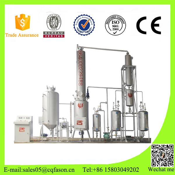 Continuously working used motor oil purification equipments