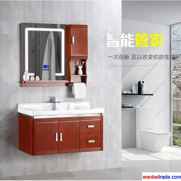 Environmental protection new style oak bathroom vanity with bluetooth music player