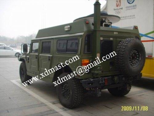 13m 43feet Vehicle Inside Mounted Mobile Communication Towers and Potatable Telescopic Antenna Masts