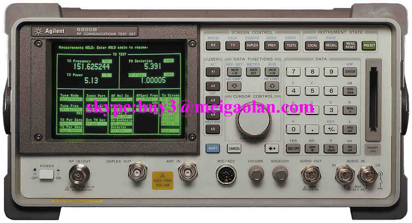 HP / Agilent 8920B  RF Communications Test Set
