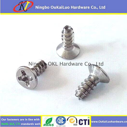 Phillips Flat Head Trilobular Thread Forming Screws