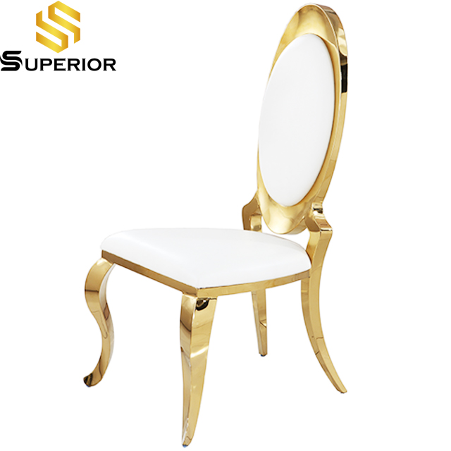 Hotel Furniture Gold Leather Luxury dining Wedding Chair