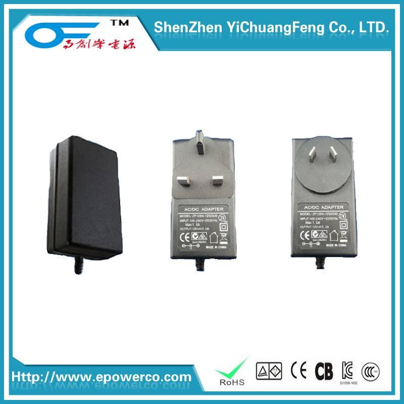 Power Supply/Power Adapter 24V1.5A/12V3A/12V3A/9V3A GS CE certification & American UL certified powe