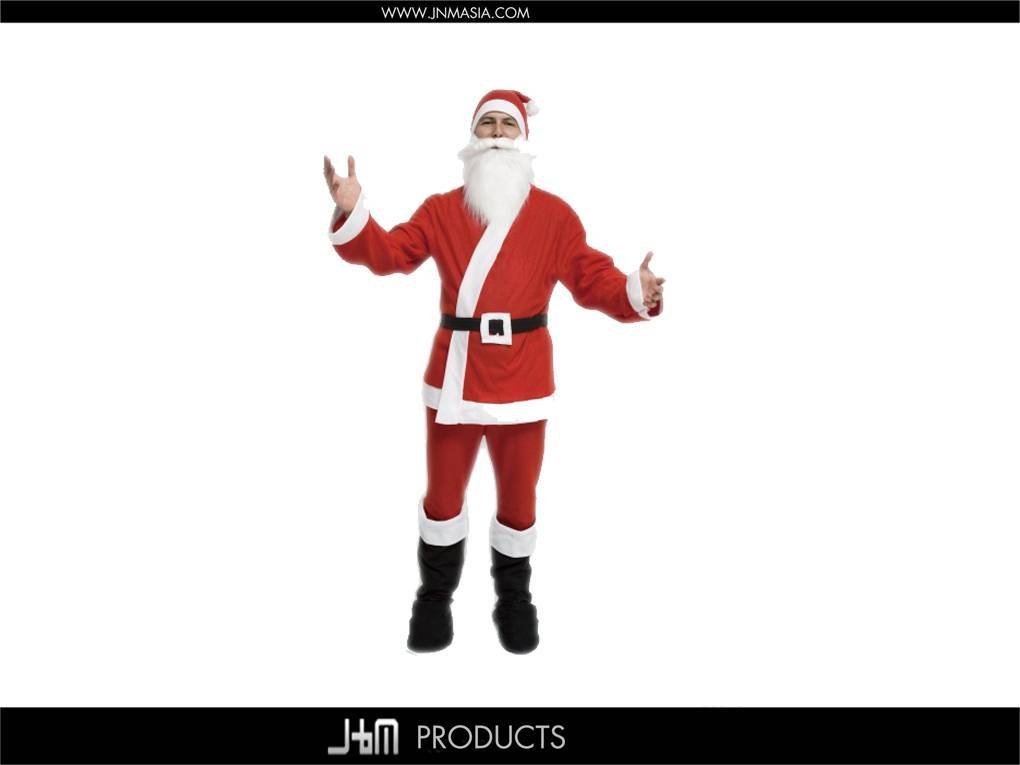 100% Polyester Feece Santa Suits
