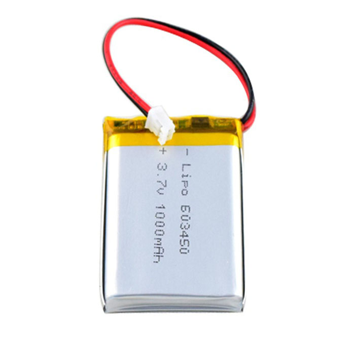 High quality 603450 3.7V 1000mah Li-polymer battery