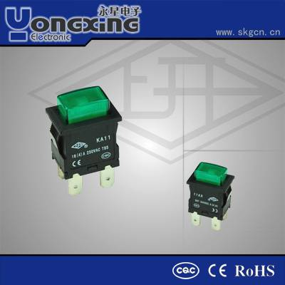16A 250V t85 metal double pole push button switch