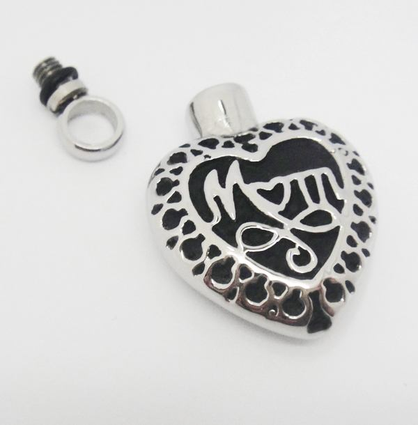 Stainless Steel Urn Pendant Cremation Jewelry