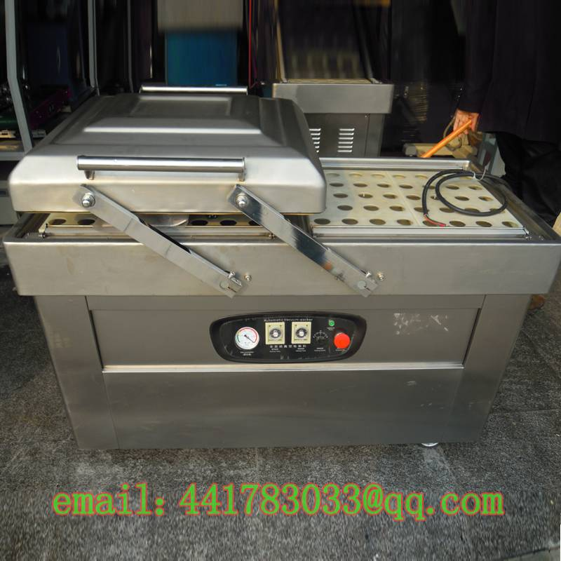 DZ-400 / 2S stainless steel double chamber vacuum packaging machine Continuous Vacuum Packaging Mach