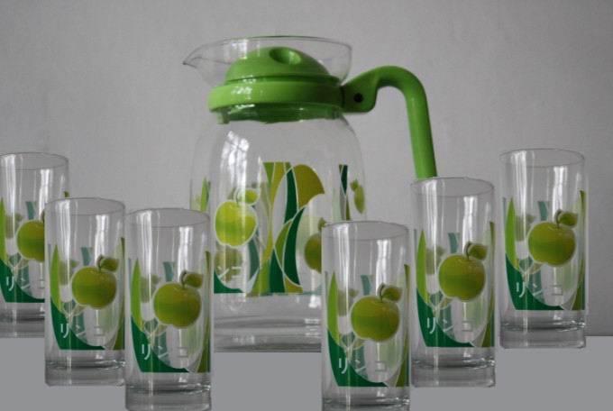 Jeisn Glass Cup set with pot