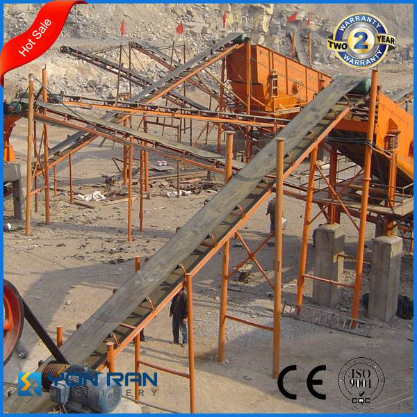 manufactuer small/mini construction sand rubber belt conveyor