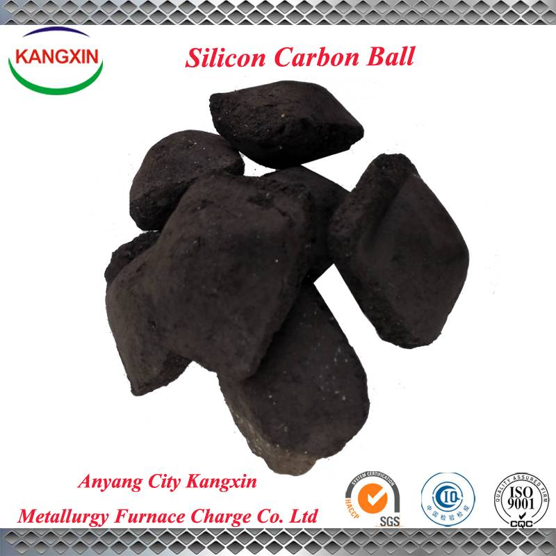 Silicon carbon ball used in steelmaking and casting