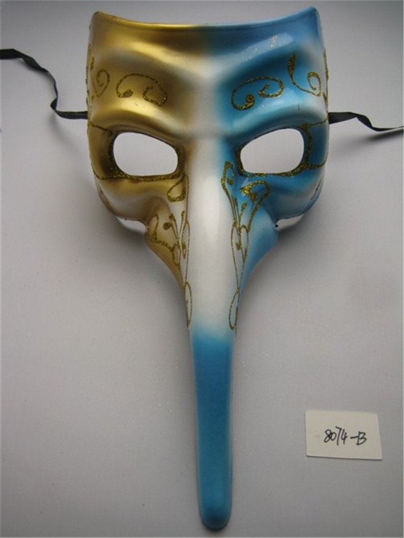 Halloween Venetian Masquerade Dancing Party Long Nose Half Face Party Mask