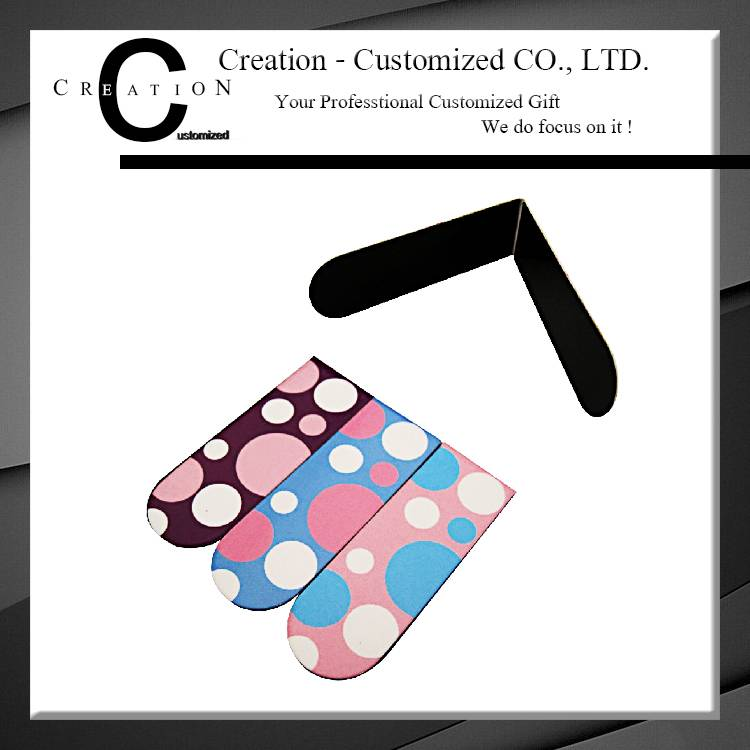 Fashion Printing Logo Fancy Bookmark for Paper Magnet Bookmark