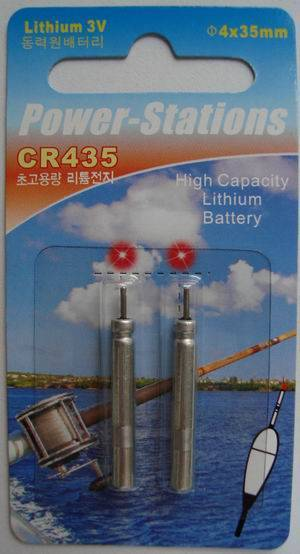 Lithium pin battery CR435