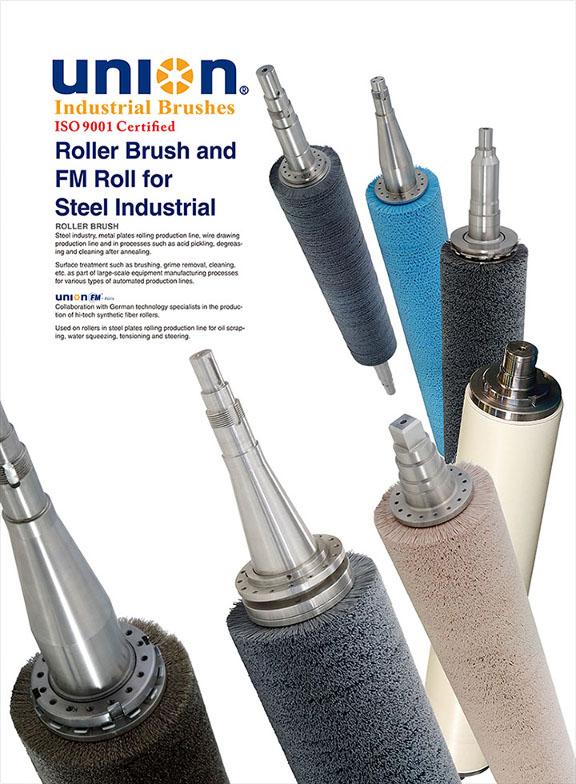 UNION BRUSH - Roller Brush for Steel Industrial