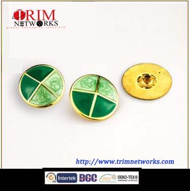 Alloy snap 23 MM button cap HVS Imi gold+epoxy cross-shaped fashion metal button