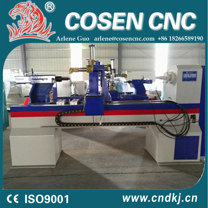 cnc wood lathe machine price good with color customization