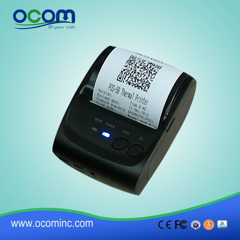 2016 China hot selling Bluetooth Mobile POS Printer with Battery