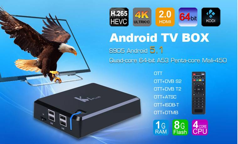 K1 tv box Android 4.4 quad core tv box Amlogic S805