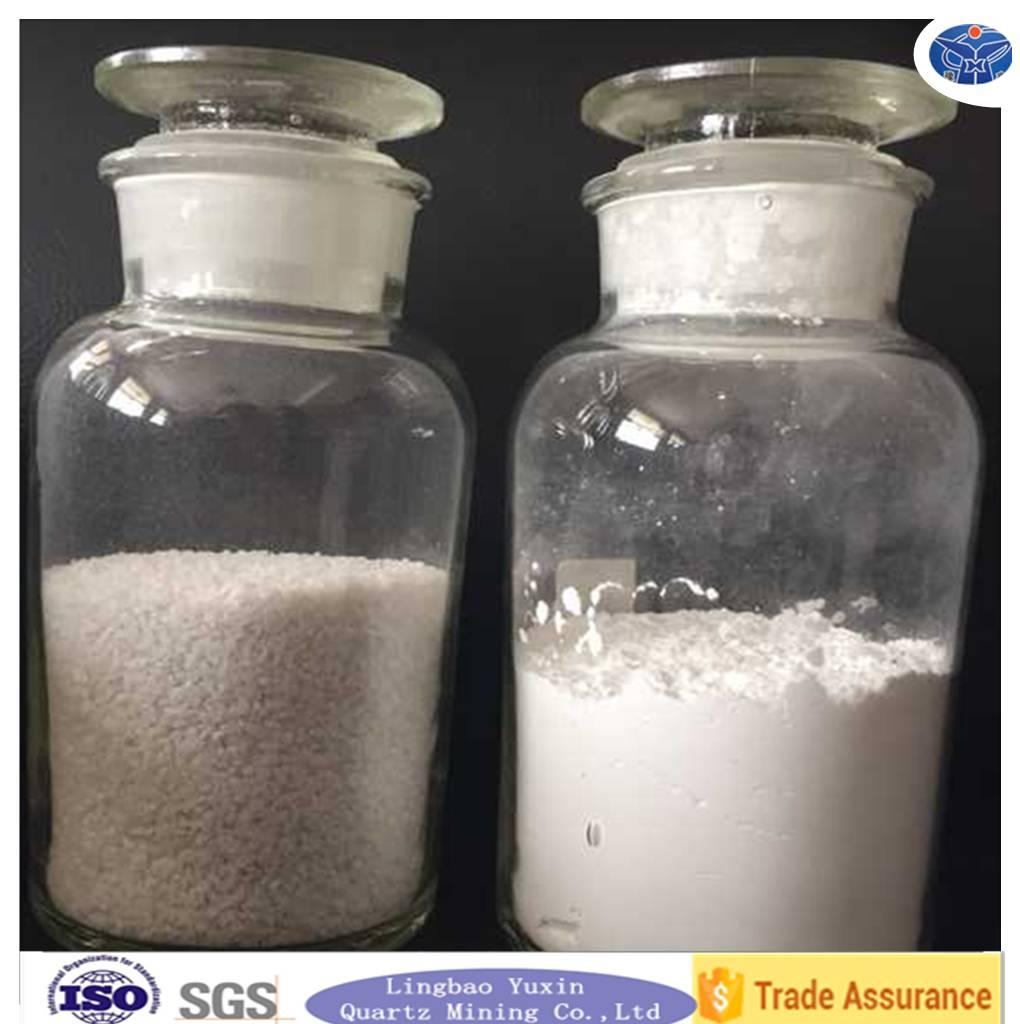 gold and platinum crucible quartz sand silica powder