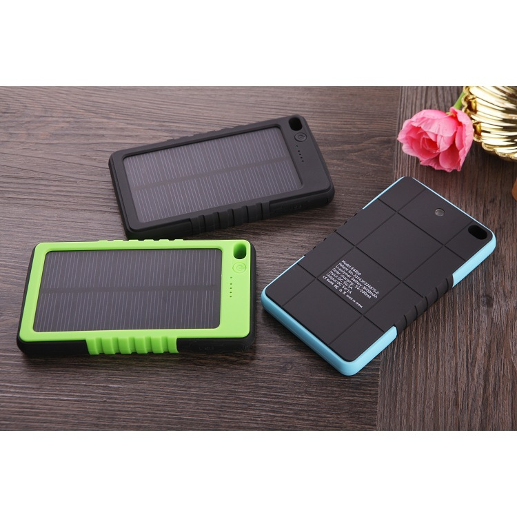 2017 hotselling 10000mah solar Power Bank for samsung smartphone