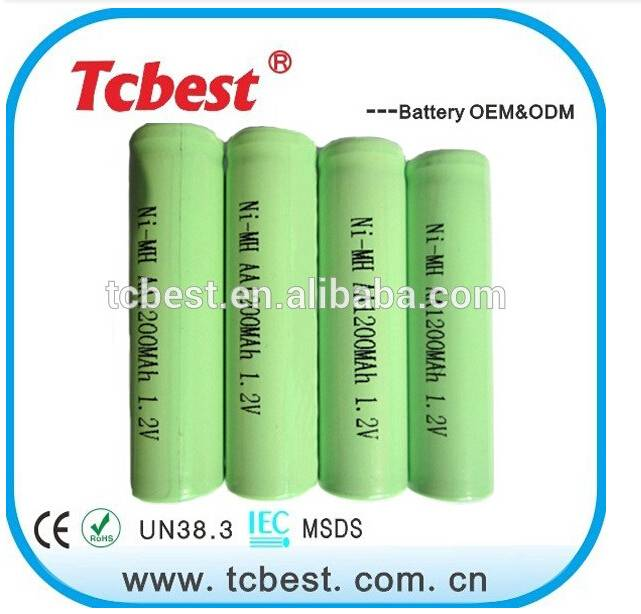 NI-MH AA 1200mah rechargeable batteries 1.2V