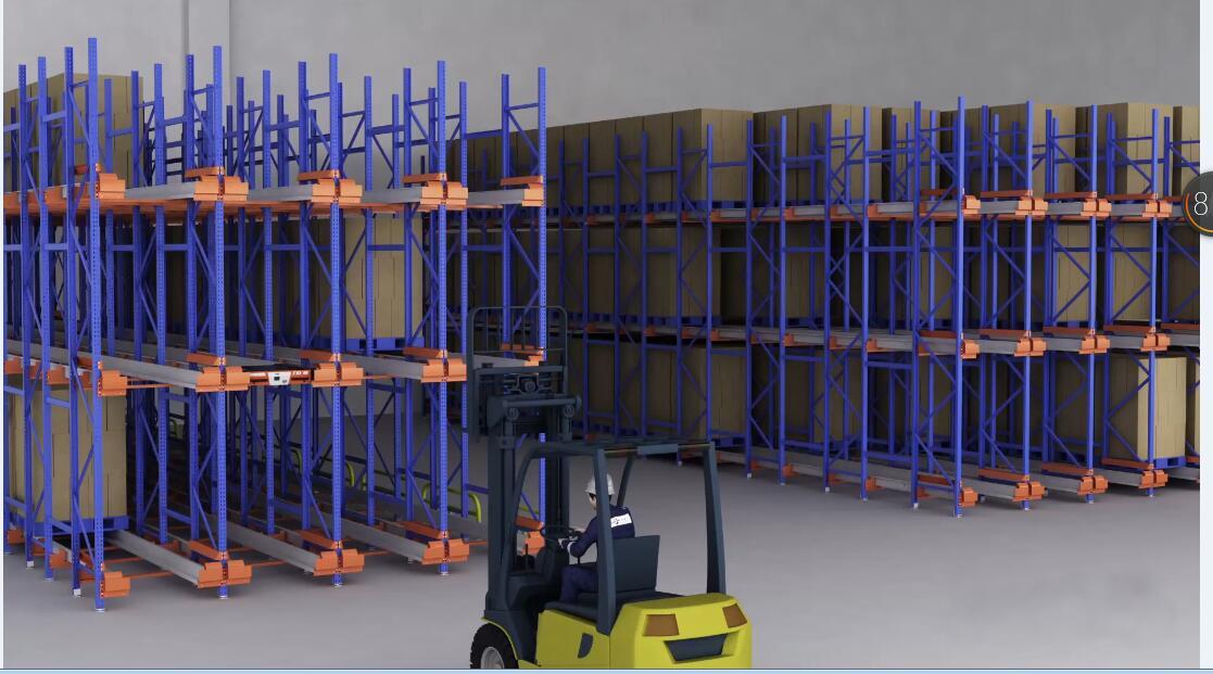 Heavy duty shutter storage rack