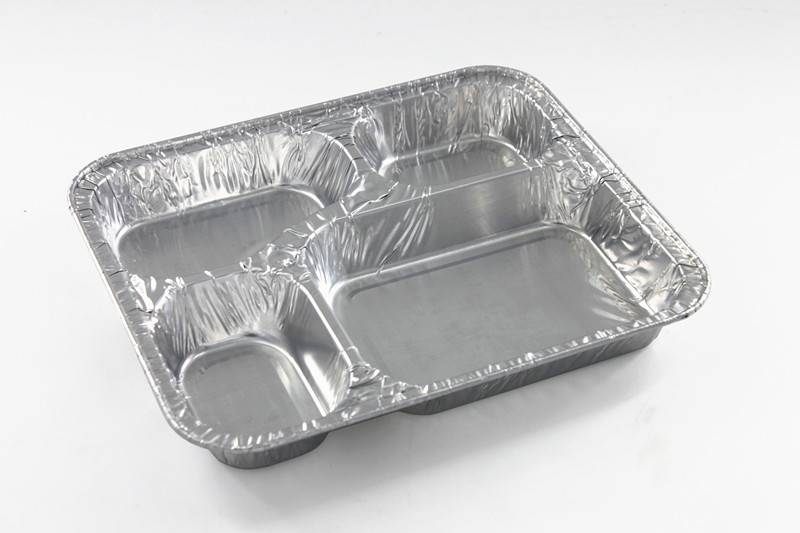 New mold aluminum foil four sections container