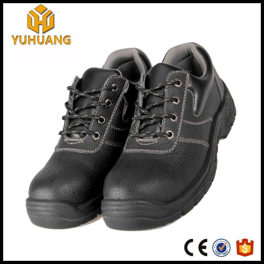 Newest design genuine leather ventilated woodland safety shoes