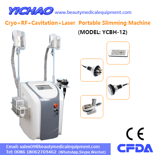 Professional Portable Cryo Cavitation RF Handles Laser Slimming Beauty Equipment