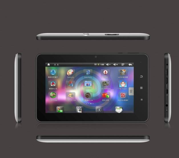 7 inch MID  RK2906 android4.0 8GB  capacitive panel  dual cameras 2G calling tablet pc