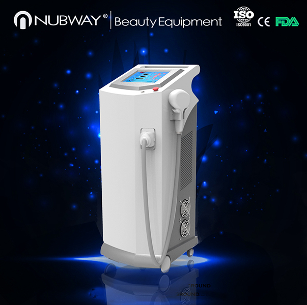 2016 nubway painless and permanent 808nm Diode Laser Hair Removal Machine