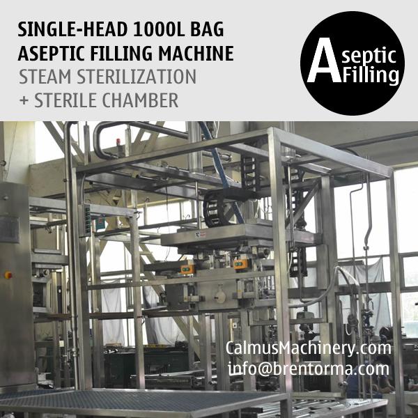 Single-head 1000 Litre Bag Aseptic Filling Machine IBC Liner Bag Aseptic Filler