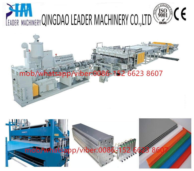 PP hollow cross section plate/sheet extrusion line