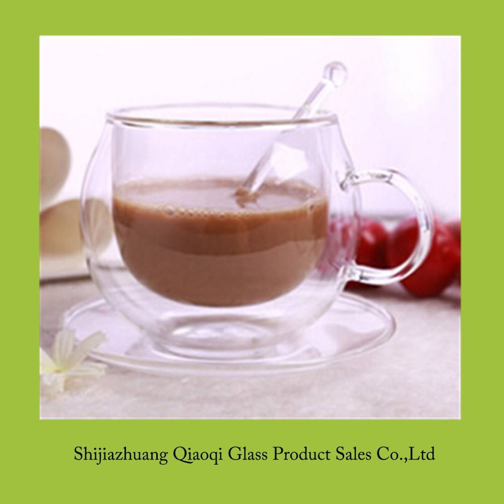 7oz glass coffee cup with saucer sets