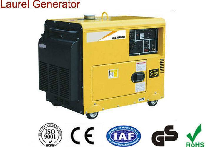 Portable Small 5000W Diesel Generator , Open Type Air-cooled Super Quiet Diesel Generators