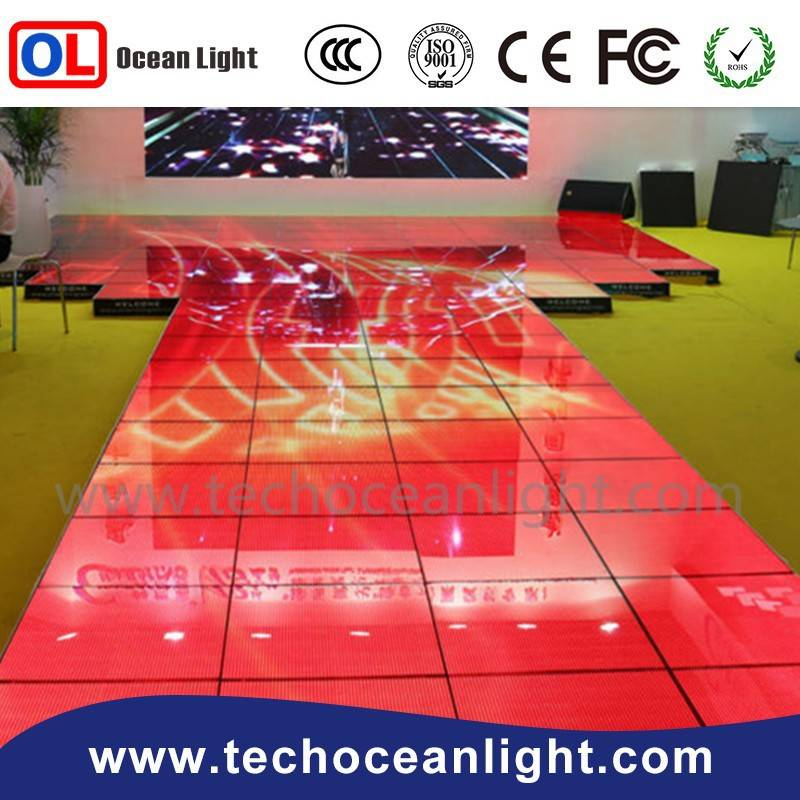 Alibaba express 1R1G1B full color p5 led dipay, sign dance floor for disco and nightclub
