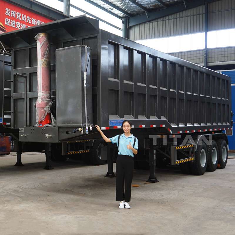 Difference and price between dump truck, end dump trailer and side tipper trailer