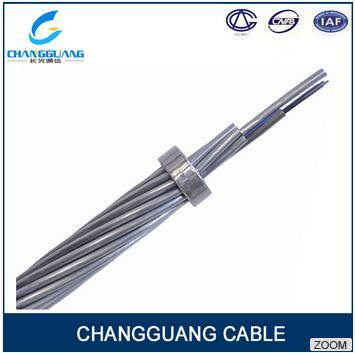 Long span stranded stainless steel tube aerial power fiber optic cable price opgw cable