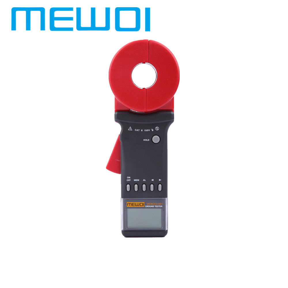 MEWOI3100+-0.01-1200ohm Clamp on Earth/Loop/GEO Resistance Tester/Meter,earth ground tester
