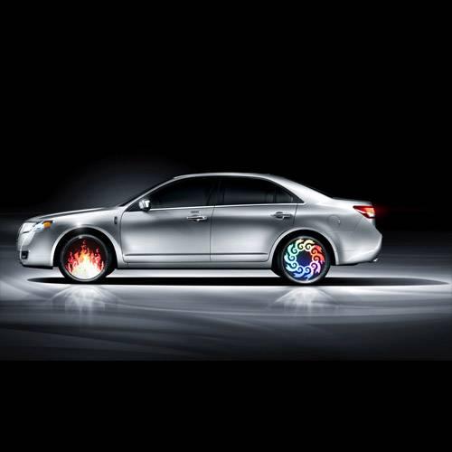 Programmable car wheel light