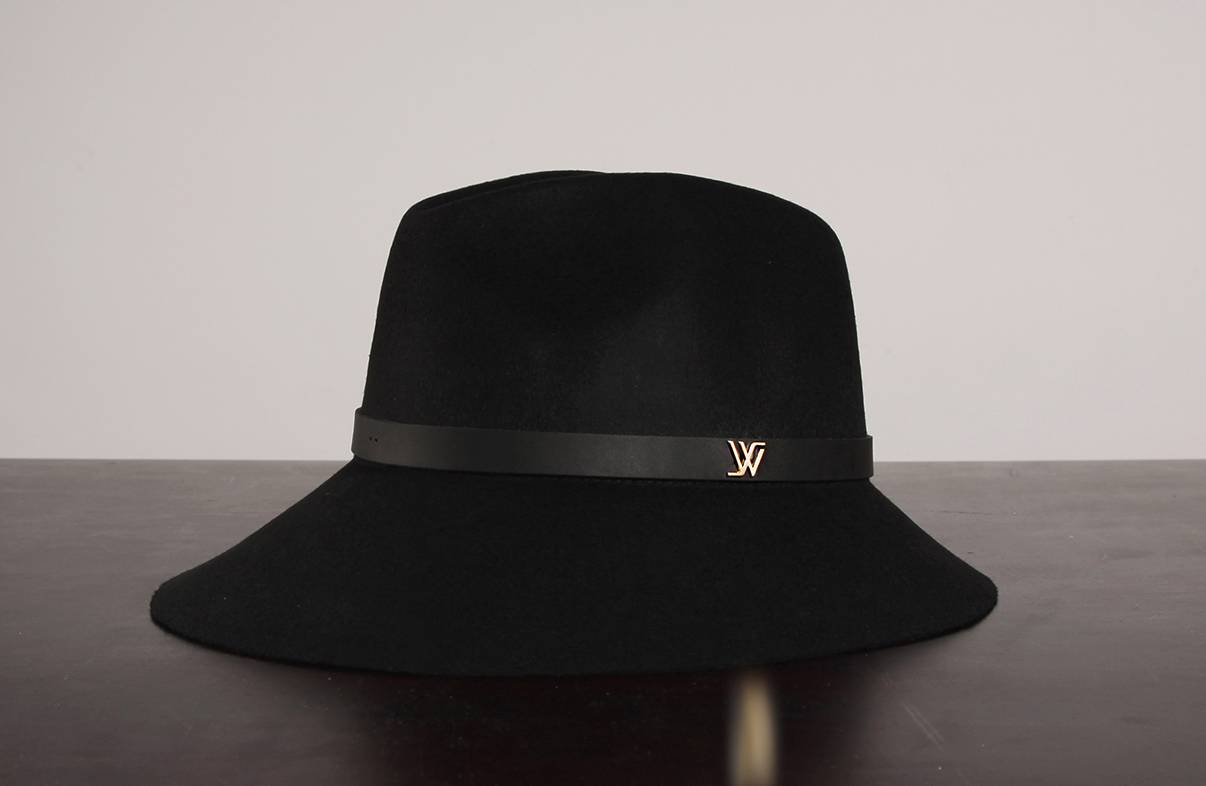 WHITE SANDS Wool Felt Hat Strap Style One Size Black