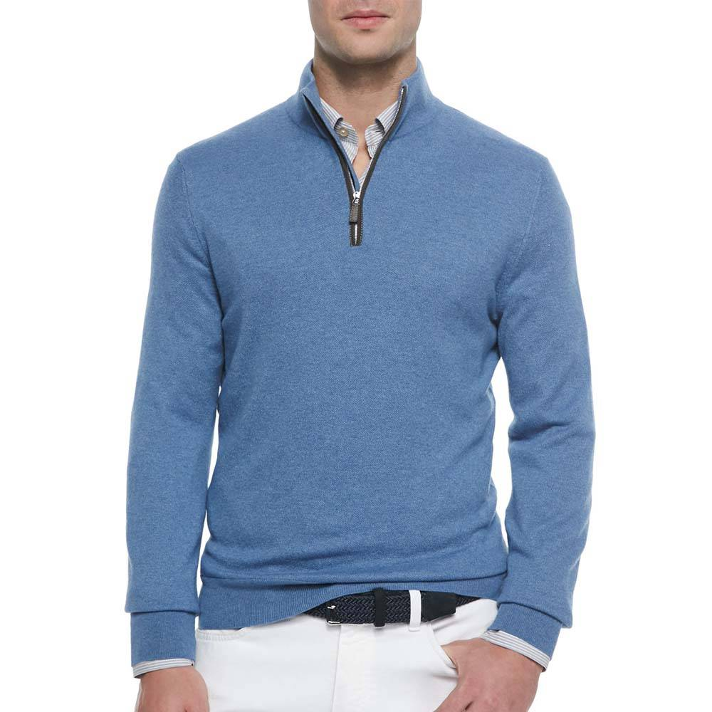 Men cashmere Turtleneck sweater with zipper