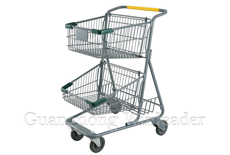 YLD-MT073-1F Two Basket Shopping Cart,Two Basket Shopping Cart Exporter,shopping trolley,Shopping Tr