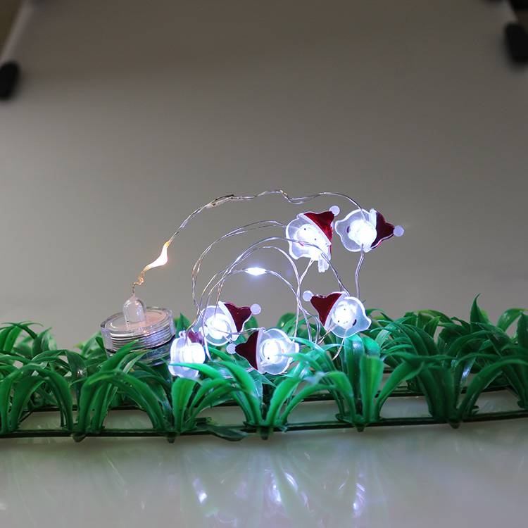 Santa Shape Waterproof LED Christmas Decoration String Lights